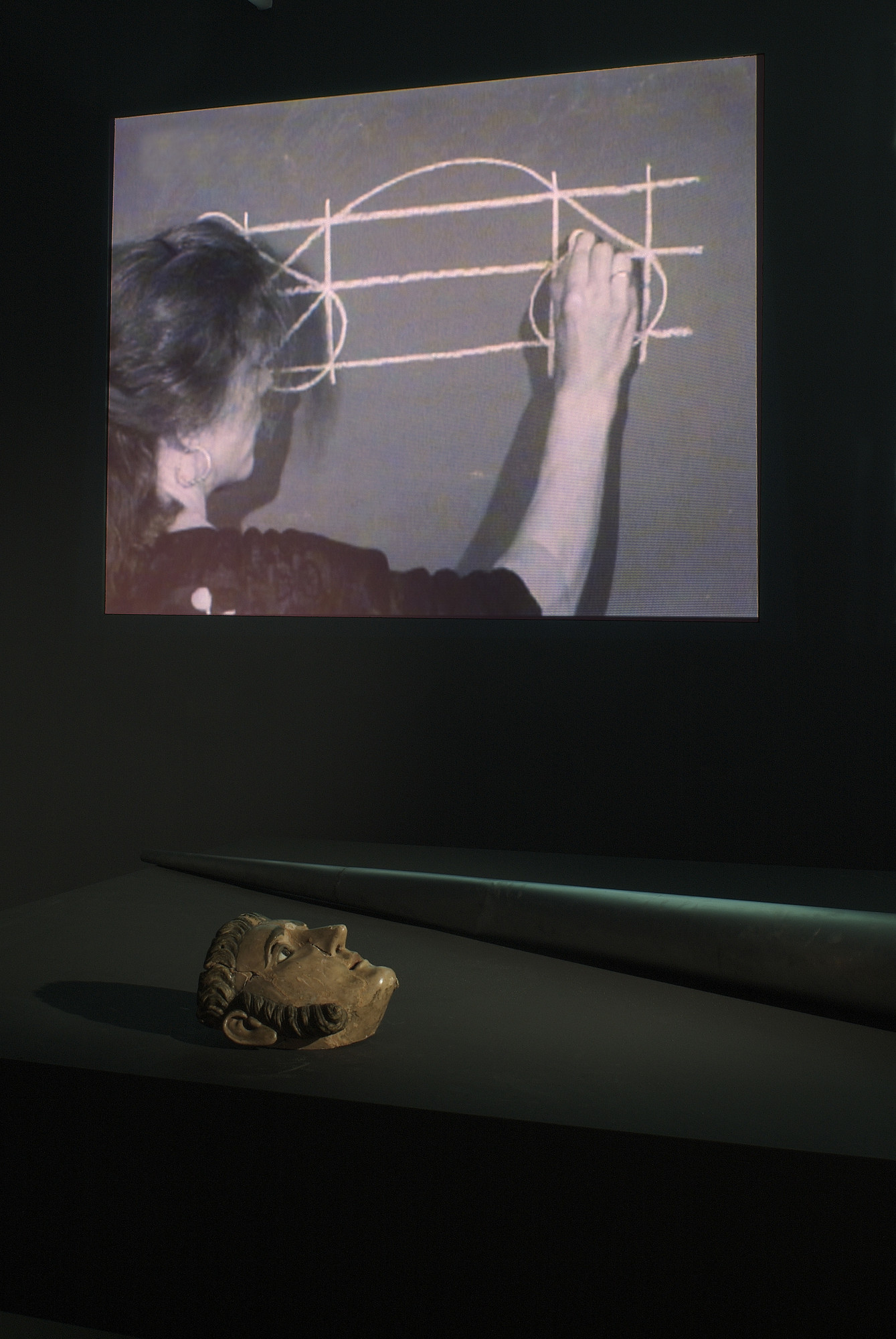 Joan Jonas. Mirage (installation detail). 1976/1994/2003. The Museum of Modern Art, New York. Gift of Richard Massey, Clarissa Alcock Bronfman, Agnes Gund, and Committee on Media Funds. Courtesy Yvon Lambert, Paris and New York