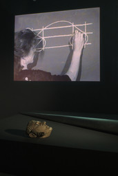 Joan Jonas. *Mirage* (installation detail). 1976/1994/2003. The Museum of Modern Art, New York. Gift of Richard Massey, Clarissa Alcock Bronfman, Agnes Gund, and Committee on Media Funds. Courtesy Yvon Lambert, Paris and New York