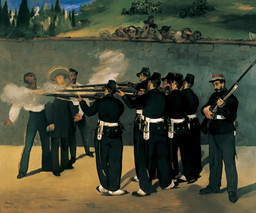 Edouard Manet. The Execution of Emperor Maximilian. 1868–69. Oil on canvas, 99 3/16 × 118 7/8″ (252 × 302 cm). Kunsthalle, Mannheim. Photo: Kunsthalle Mannheim, Margita Wickenhäuser