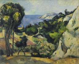 Paul Cezanne. *L'Estaque. 1879–83. Oil on canvas, 31 1/2 × 39″ (80.3 × 99.4 cm). The William S. Paley Collection