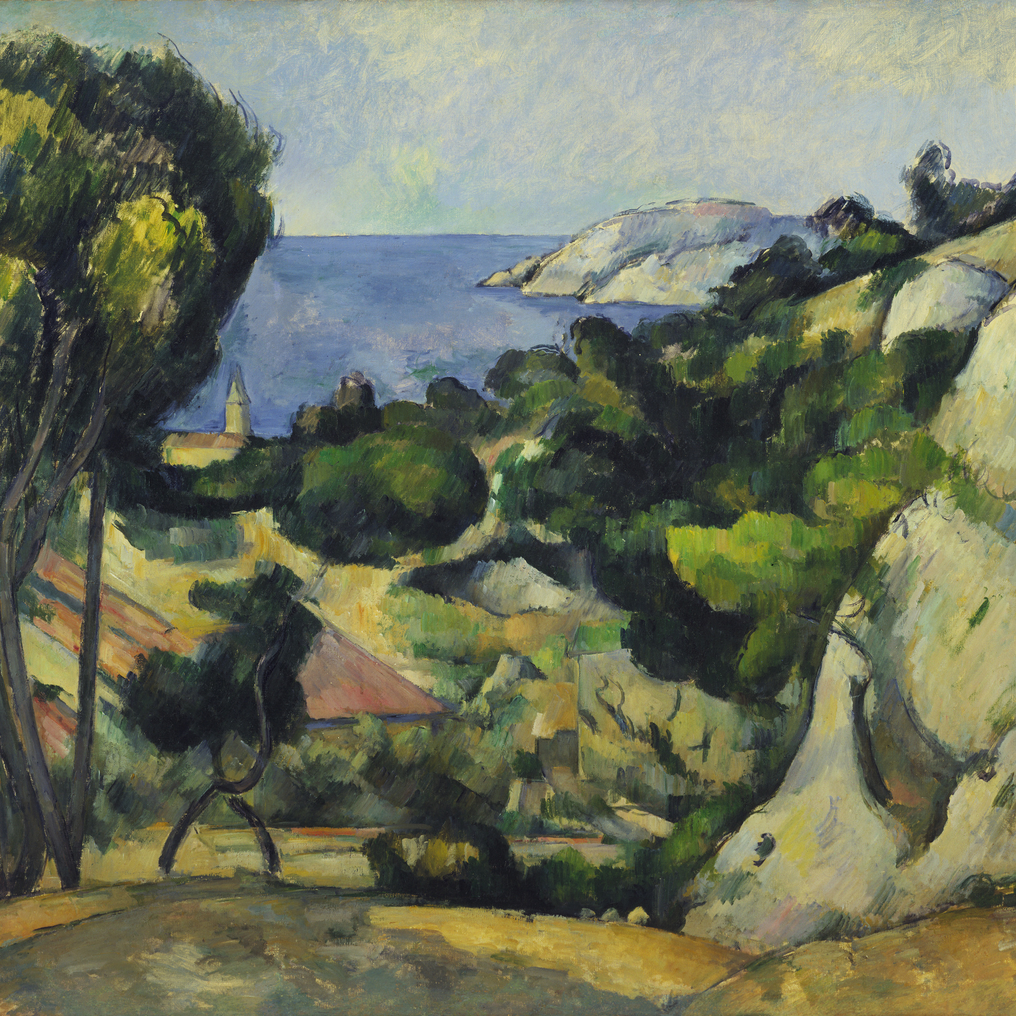 Paul Cézanne. *L'Estaque. 1879–83. Oil on canvas, 31 1/2 × 39″ (80.3 × 99.4 cm). The William S. Paley Collection