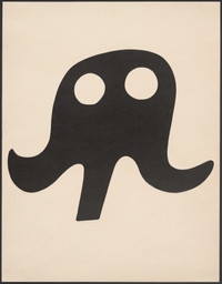 Jean (Hans) Arp. Mustache Hat, from 7 Arpaden. 1923. One from a portfolio of seven lithographs, sheet: 17 3/4 × 13 3/4″ (45.1 × 34.9 cm). Publisher: Merzverlag (Kurt Schwitters), Hannover, Germany. Printer: unknown. Edition: 50. Gift of J. B. Neumann. © 2005 Artists Rights Society (ARS), New York/VG Bild-kunst, Bonn