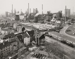 Bernd and Hilla Becher. *Duisburg-Bruckhausen, Ruhr Region, Germany.* 1999. Gelatin silver print, 19 5/16 × 24″ (49.1 × 60.9 cm). Horace W. Goldsmith Fund through Robert B. Menschel. © 2016 Hilla Becher
