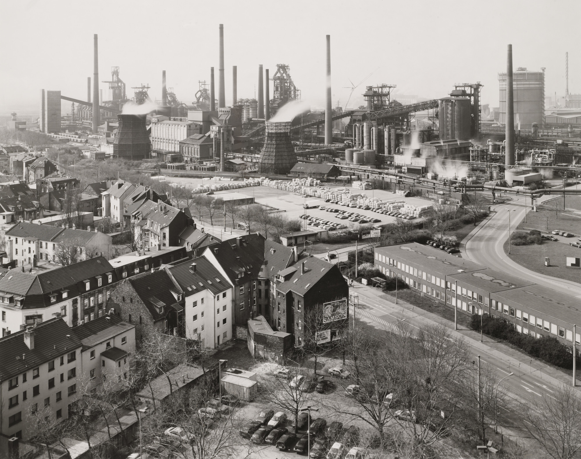 Bernd and Hilla Becher. Duisburg-Bruckhausen, Ruhr Region, Germany. 1999. Gelatin silver print, 19 5⁄16 × 24″ (49.1 × 60.9 cm). Horace W. Goldsmith Fund through Robert B. Menschel. © 2016 Hilla Becher