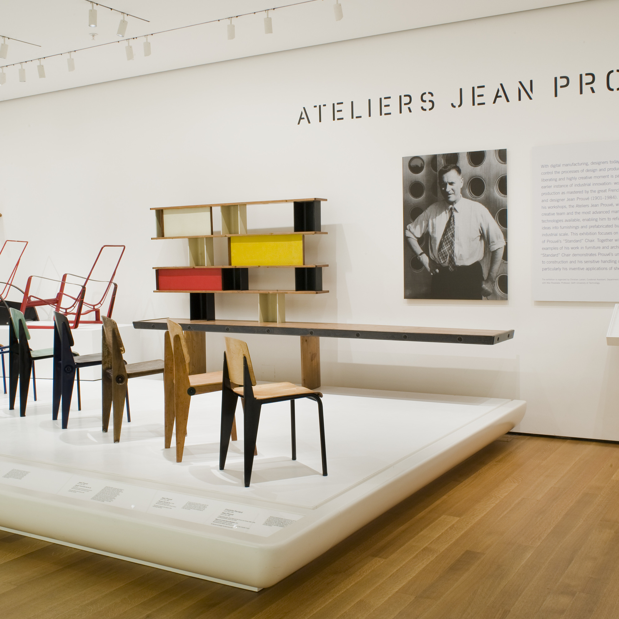 Installation view of Ateliers Jean Prouvé at The Museum of Modern Art, New York. Photo: Thomas Griesel