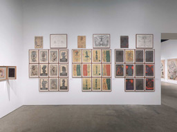 Installation view of Roth Time: A Dieter Roth Retrospective at The Museum of Modern Art, New York