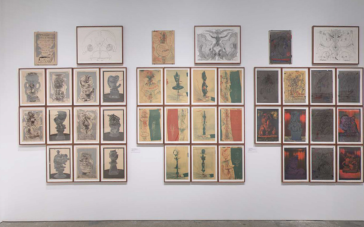 Installation view of *Roth Time: A Dieter Roth Retrospective* at The Museum of Modern Art, New York