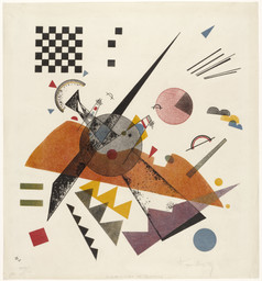 Vasily Kandinsky. *Orange.* 1923. Lithograph. Sheet: 19 × 17 7/16″ (48.2 × 44.3 cm). Publisher and printer: Staatliches Bauhaus, Weimar. Edition: 50. The Museum of Modern Art, New York. Purchase, 1949. © 2005 Artists RightsSociety (ARS), New York/ADAGP, Paris