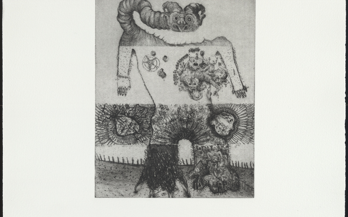 Dinos and Jake Chapman. *Untitled*, from the portfolio *Exquisite Corpse.* 2000. Etching. Plate: 9 1/16 × 7 1/16″ (23 × 18 cm). Publisher: The Paragon Press, London. Printer: Hope (Sufferance) Press,  London. Edition: 30. The Museum of Modern Art. Roxanne H. Frank Fund