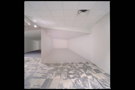 Ricci Albenda. Tesseract. 2001. Installation view. Wallboard, gatorboard, fiberglass, aluminum, paint, and light, 25 × 30 × 10′ (762 × 914.4 × 304.8 cm) (approx.). Courtesy Andrew Kreps Gallery, New York