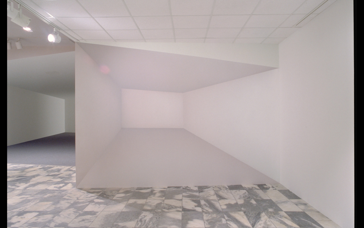 Ricci Albenda. *Tesseract.* 2001. Installation view. Wallboard, gatorboard, fiberglass, aluminum, paint, and light, 25 × 30 × 10′ (762 × 914.4 × 304.8 cm) (approx.). Courtesy Andrew Kreps Gallery, New York