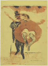 Max Pechstein. Dancers (Pair of Dancers). 1909. Lithograph, 20 7/8 × 16 15/16″ (53 × 43 cm). Publisher and printer: the artist, Berlin. Edition: unique impression of the second (final) state. The Museum of Modern Art, New York. Scott Sassa Fund, The Philip and Lynn Straus Foundation Fund, Richard A. Epstein Fund, Miles O. Epstein Fund, Sarah C. Epstein Fund, Nelson Blitz Fund, and Frances Keech Fund
