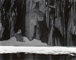 Ansel Adams. *Ice and Cliffs, Kaweah Gap, California.* 1932, print 1963. Gelatin silver print. Purchase. © 2016 The Ansel Adams Publishing Rights Trust