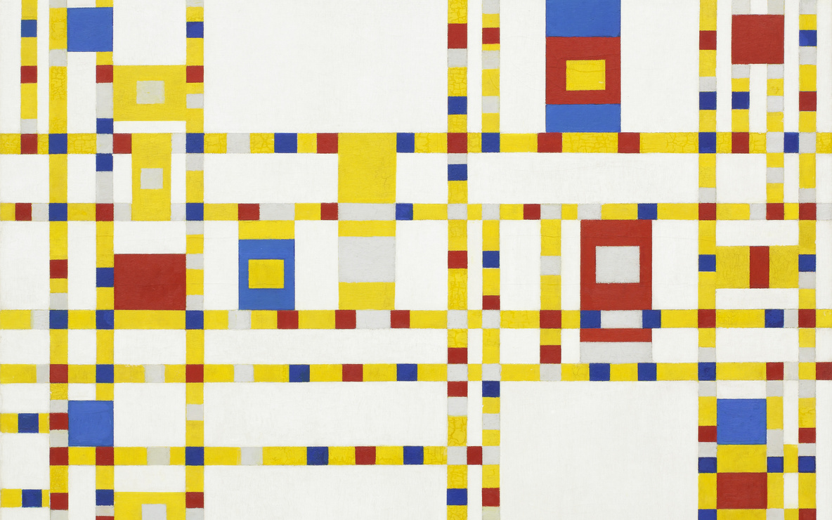 Piet Mondrian. *Broadway Boogie Woogie.* 1942–43. Oil on canvas, 50 × 50″ (127 × 127 cm). Given anonymously