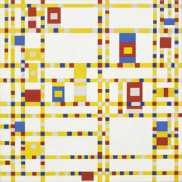 Piet Mondrian. Broadway Boogie Woogie. 1942–43. Oil on canvas, 50 × 50″ (127 × 127 cm). Given anonymously