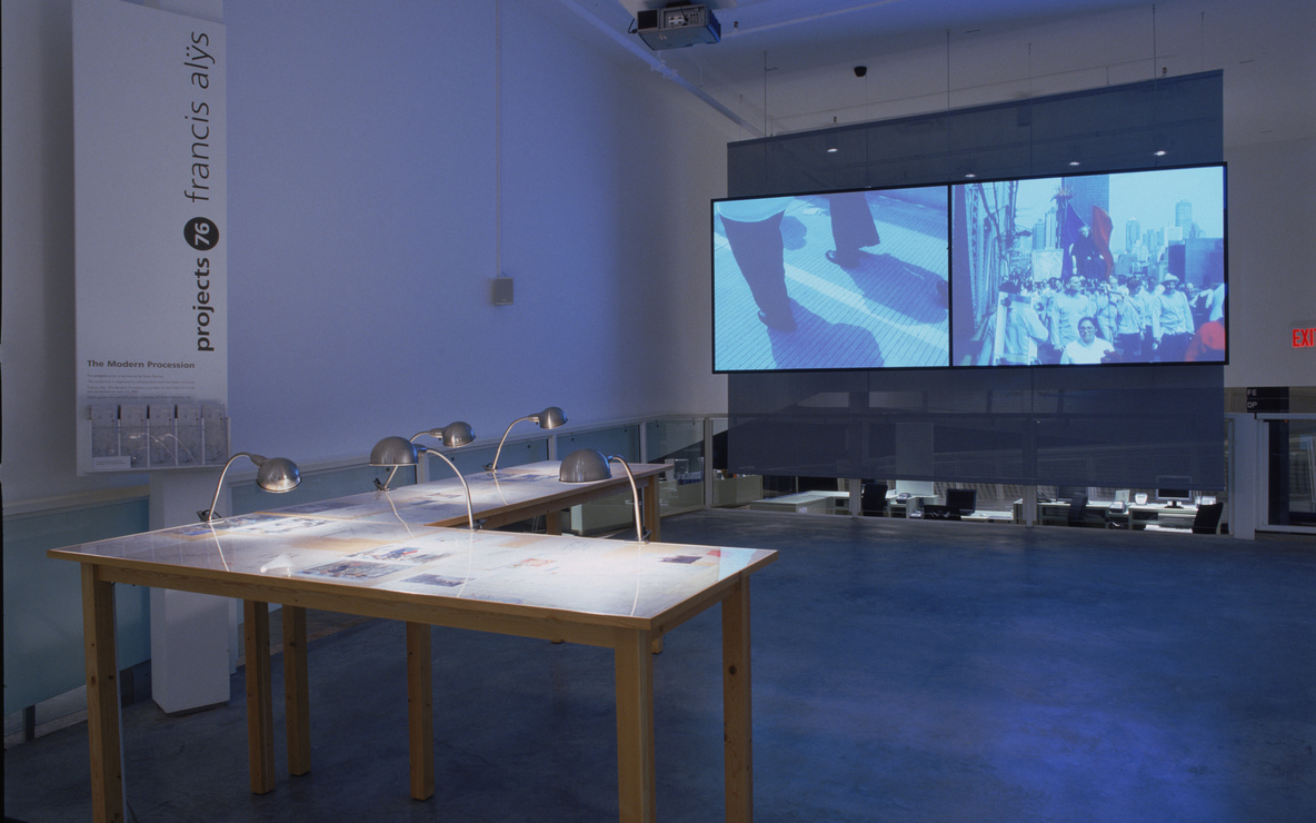 Installation view of *Projects 76: Francis Alÿs*