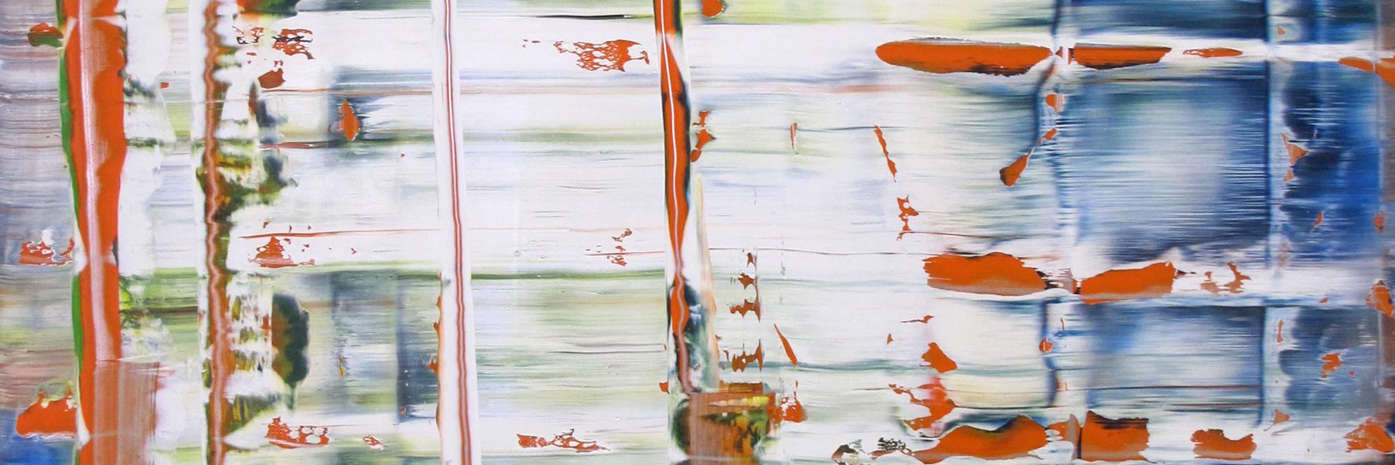 Gerhard Richter. Abstract Picture (Abstraktes Bild). 1992. Oil on aluminum panel, 39 1/2 × 39 1/2″ (100 × 100 cm). Private Collection