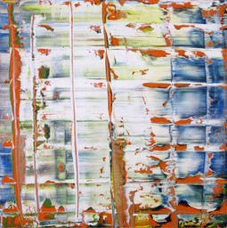 Gerhard Richter. *Abstract Picture (Abstraktes Bild).* 1992. Oil on aluminum panel, 39 1/2 × 39 1/2″ (100 × 100 cm). Private Collection