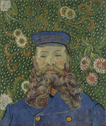 Vincent van Gogh. *Portrait of Joseph Roulin.* Arles, early 1889. Oil on canvas, 25 3/8 × 21 3/4″ (64.4 × 55.2 cm). Gift of Mr. and Mrs. William A. M. Burden, Mr. and Mrs. Paul Rosenberg, Nelson A. Rockefeller, Mr. and Mrs. Armand P. Bartos, The Sidney and Harriet Janis Collection, Mr. and Mrs. Werner E. Josten, and Loula D. Lasker Bequest (all by exchange). Photo: Thomas Griesel