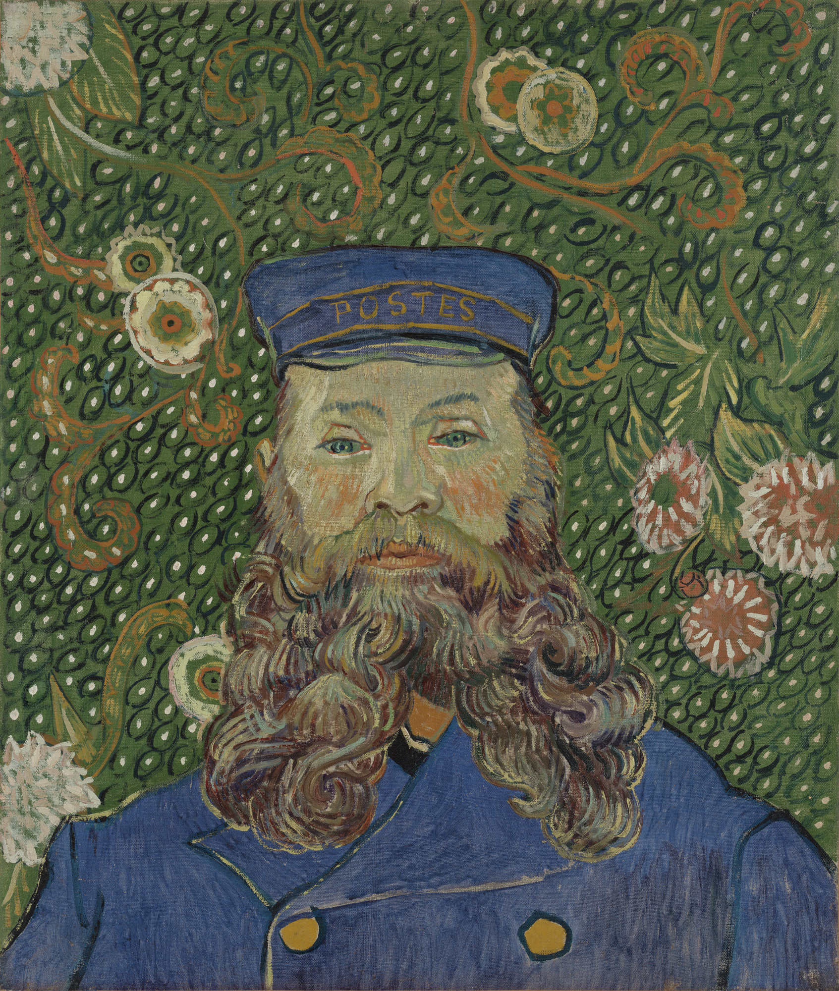 Vincent van Gogh. Portrait of Joseph Roulin. Arles, early 1889. Oil on canvas, 25 3⁄8 × 21 3/4″ (64.4 × 55.2 cm). Gift of Mr. and Mrs. William A. M. Burden, Mr. and Mrs. Paul Rosenberg, Nelson A. Rockefeller, Mr. and Mrs. Armand P. Bartos, The Sidney and Harriet Janis Collection, Mr. and Mrs. Werner E. Josten, and Loula D. Lasker Bequest (all by exchange). Photo: Thomas Griesel