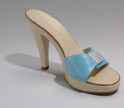 Sylvie Fleury. His Mistress' Toy (for Parkett no. 58). 2000. Multiple of polyurethane shoe with integrated noisemaker, Overall: 4 7/16 × 3 3/4 × 7 11/16″ (11.2 × 9.5 × 19.5 cm). Roxanne H. Frank Fund