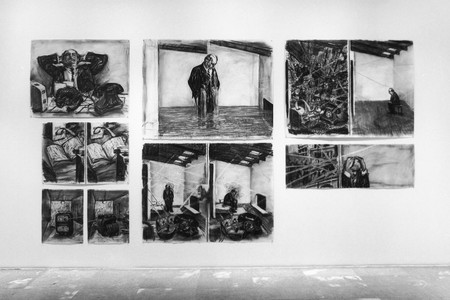 Installation view of Projects 68: William Kentridge at The Museum of Modern Art, New York. Photo: Thomas Griesel