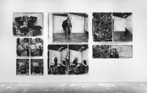 Installation view of *Projects 68: William Kentridge* at The Museum of Modern Art, New York. Photo: Thomas Griesel