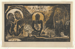 Paul Gauguin. Te Atua (The Gods). 1893–94. Woodcut, 8 × 13 7/8″ (20.3 × 35.2 cm). Printer: the artist, Paris. Edition: approx. 7. Gift of Abby Aldrich Rockefeller