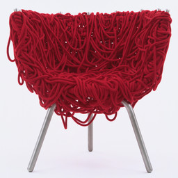 Fernando and Humberto Campana. Vermelha Chair. 1993. Manufacturer: Edra Mazzei, Pisa, Italy. Iron with epoxy coating, aluminum, and cord, 31 × 29 1/8 × 22 3/4ʺ (78.7 × 74 × 57.8 cm). Gift of Patricia Phelps de Cisneros. © 2016 Fernando Campana and Humberto Campana