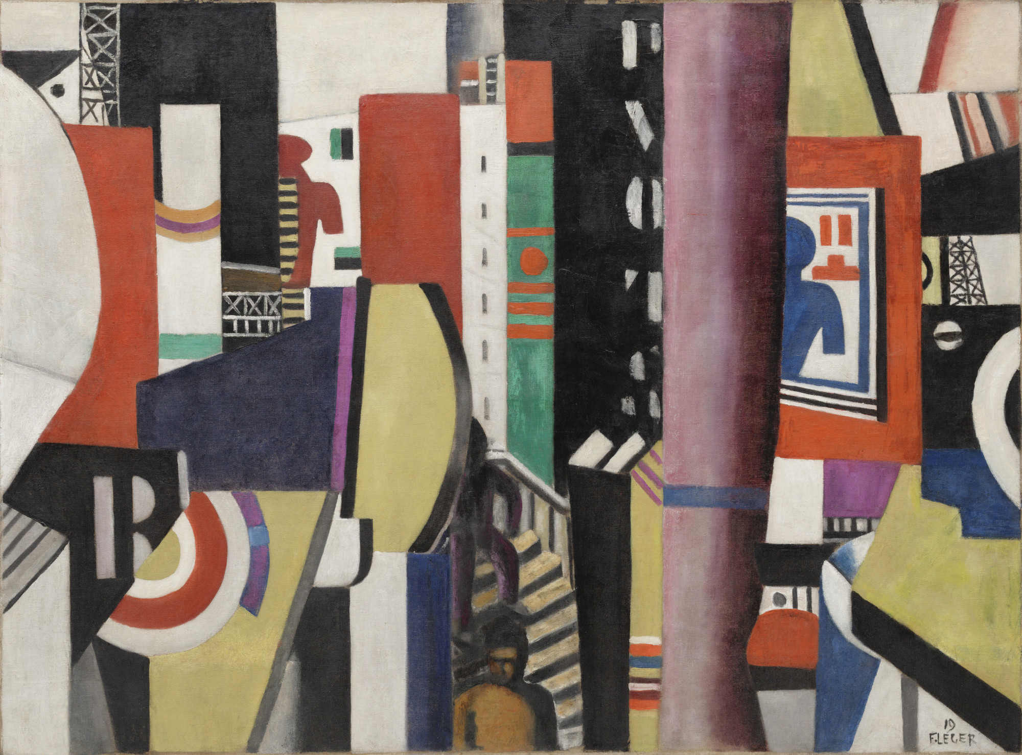 Fernand Léger. The City. 1919. Oil on canvas, 38 1⁄8 × 51 3/8ʺ (96.8 × 130.5 cm). Florene May Schoenborn Bequest. © 2016 Artists Rights Society (ARS), New York / ADAGP, Paris