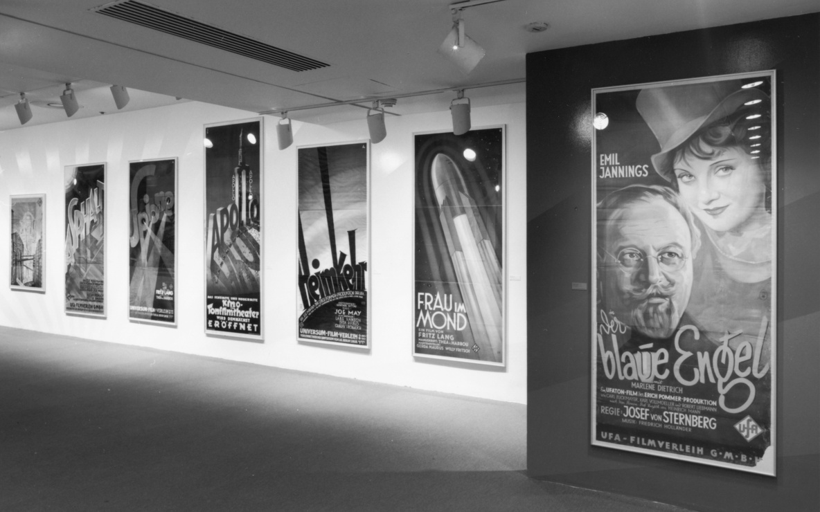 Installation view of *UFA Film Posters, 1918–1943* at The Museum of Modern Art, New York. Photo: Thomas Griesel