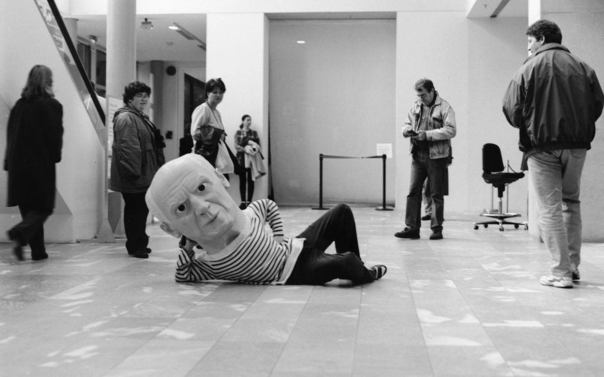 Installation view of *Projects 65: Maurizio Cattelan* at The Museum of Modern Art, New York. Photo: Thomas Griesel
