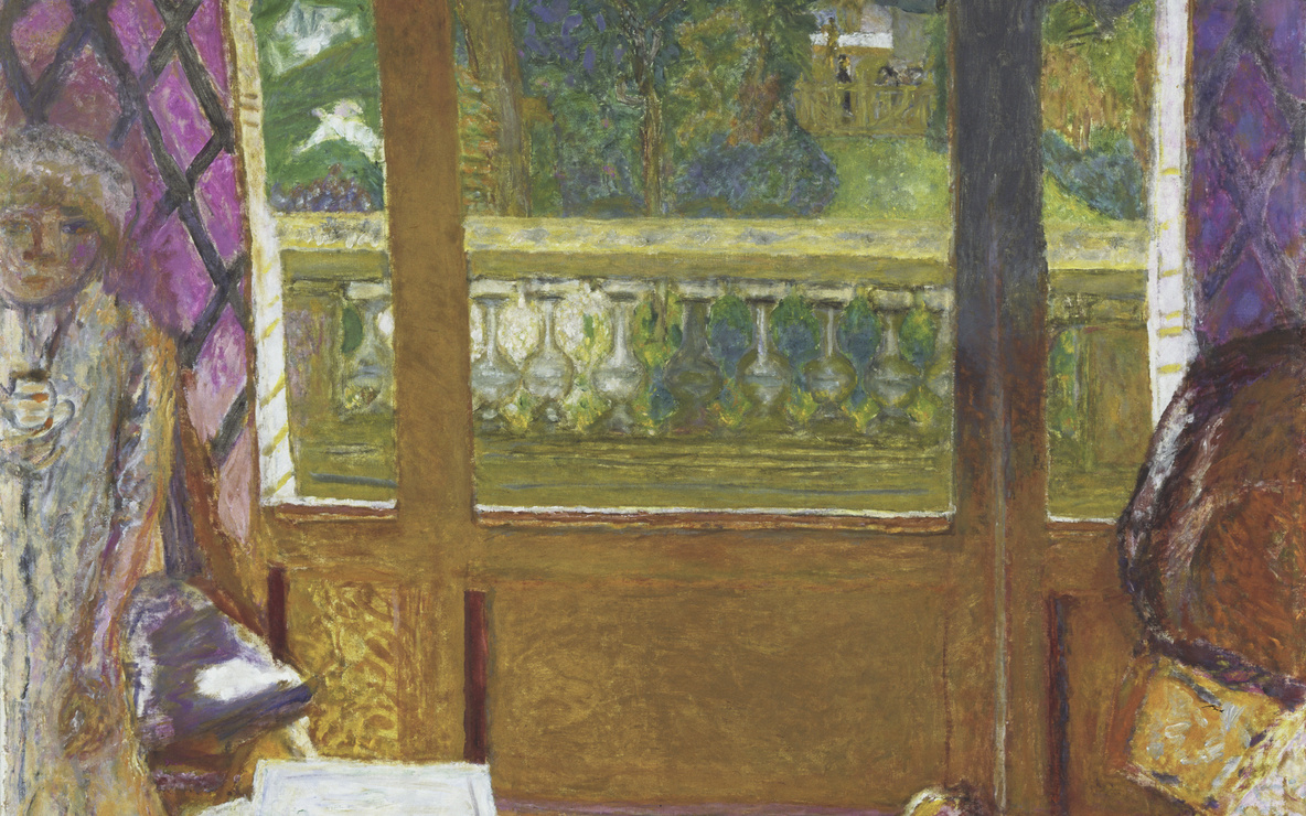 Pierre Bonnard. *Dining Room Overlooking the Garden (The Breakfast Room).* 1930–31. Oil on canvas, 62 7/8 × 44 7/8ʺ (159.6 × 113.8 cm). Given anonymously. © 2016 Artists Rights Society (ARS), New York / ADAGP, Paris. Photo: Paige Knight