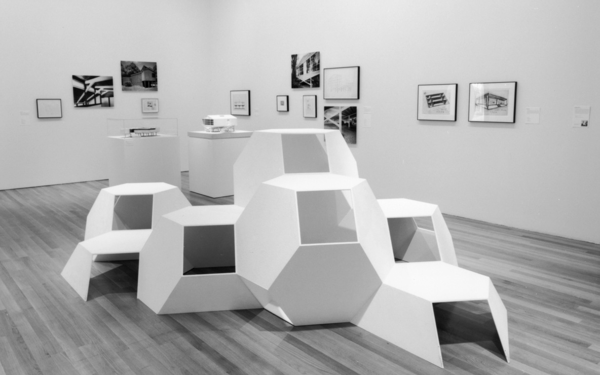 Installation view of *Tony Smith* at The Museum of Modern Art, New York. Photo: Thomas Griesel