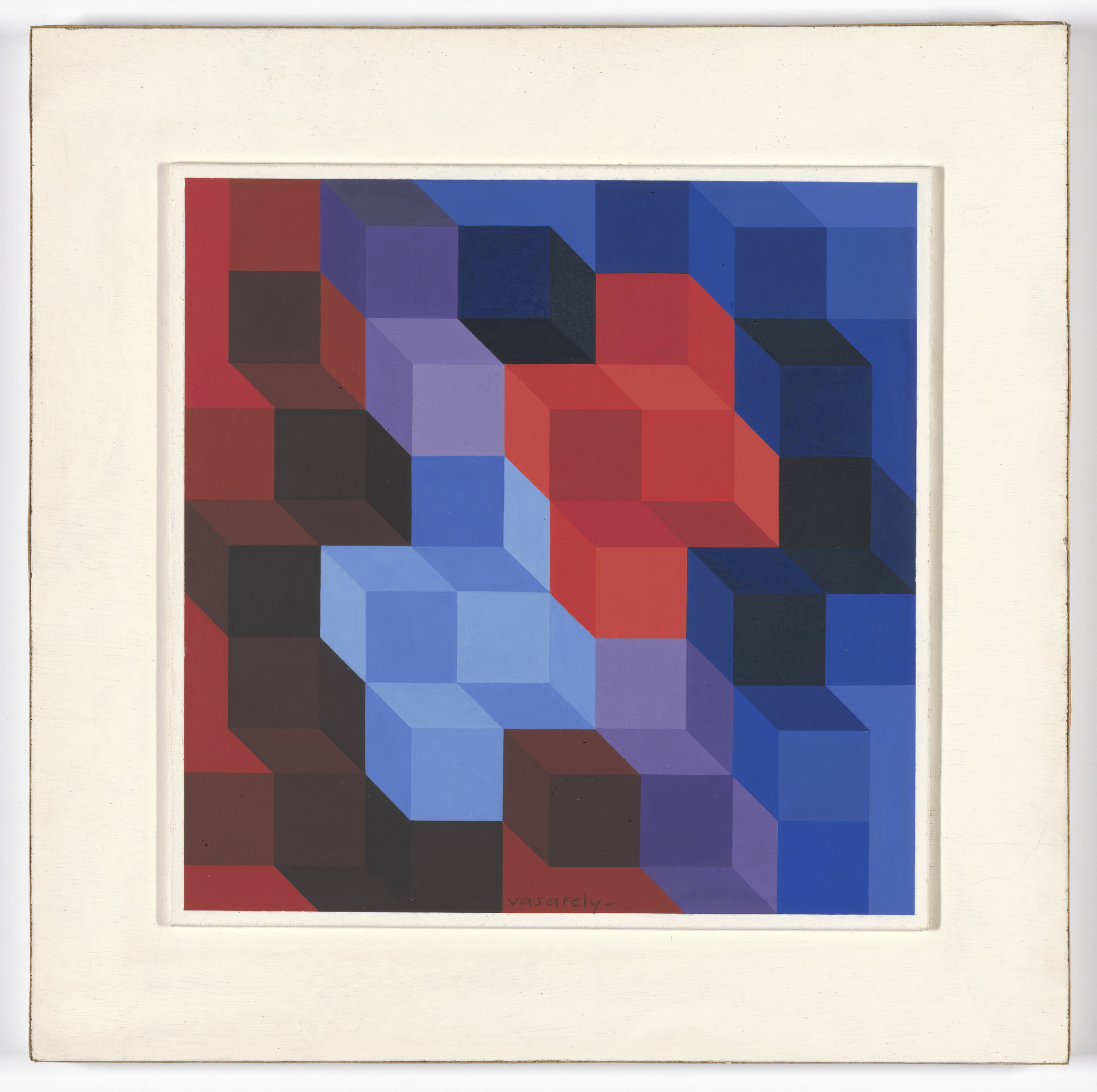 Victor Vasarely. Study for Deuton RB. 1966. Gouache on paper, 9 7⁄8 × 9 7/8ʺ (25.1 × 25.1 cm). Gift of Mrs. Lily Auchincloss. © 2016 Artists Rights Society (ARS), New York / ADAGP, Paris