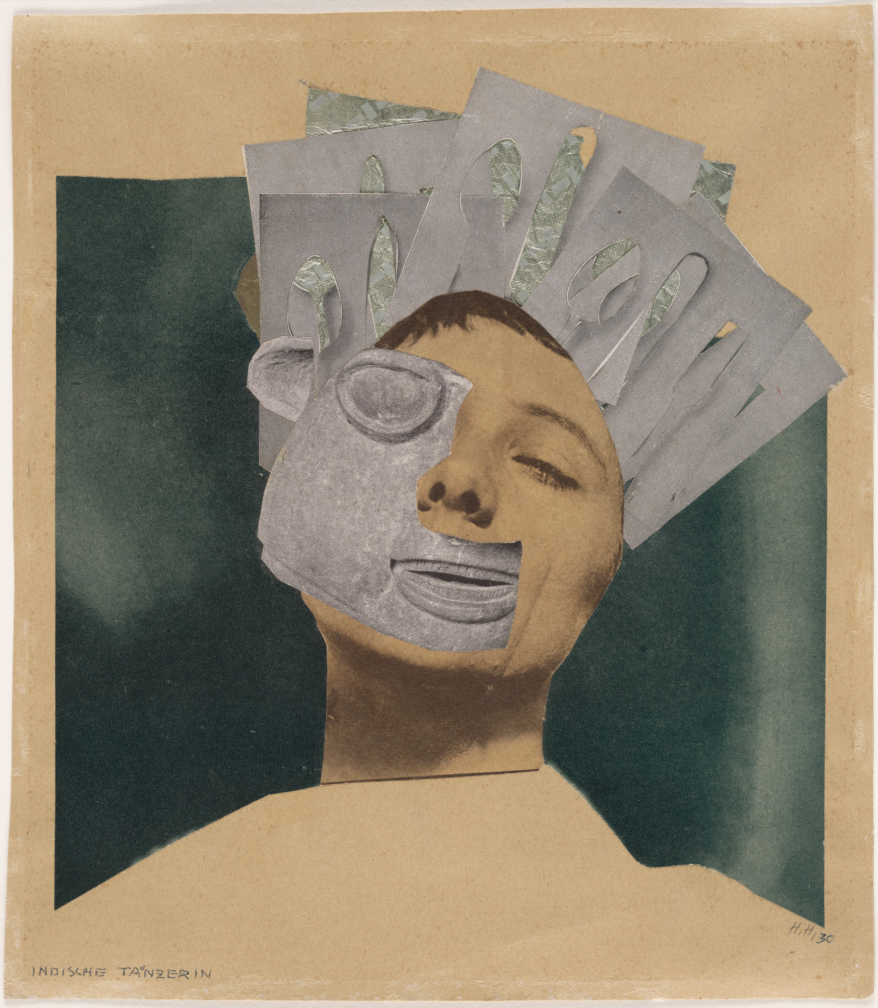 Hannah Höch. Indian Dancer: From an Ethnographic Museum. 1930. Photomontage with collage, 10 1/8 × 8 7/8″. Frances Keech Fund. © 2016 Hannah Höch / Artists Rights Society (ARS), New York / VG Bild-Kunst, Germany