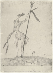 Paul Klee. Aged Phoenix (Greiser Phoenix) from the series Inventions (Inventionen). 1905. Etching, composition and sheet: 10 3/8 × 7 9/16″ (26.3 × 19.2 cm). Publisher: the artist, Bern. Printer: Max Girardet, Bern. Purchase. © 2016 Artists Rights Society (ARS), New York / VG Bild-Kunst, Bonn. Photo: Robert Gerhardt