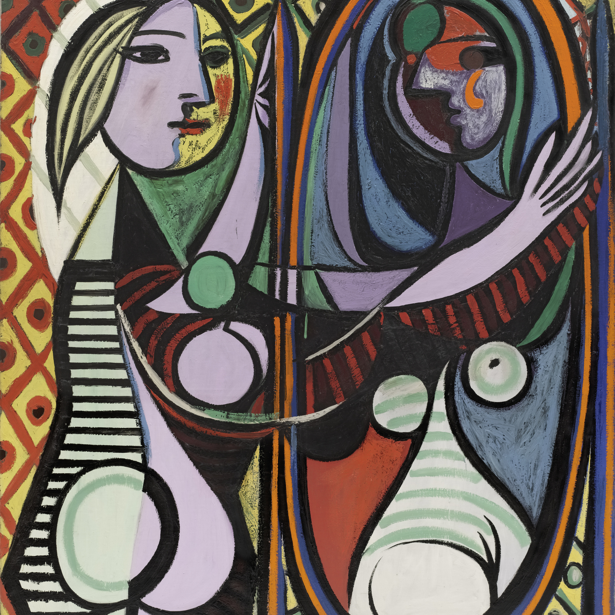 picasso and portraiture representation and transformation moma pablo picasso girl before a mirror boisgeloup 1932 oil on canvas