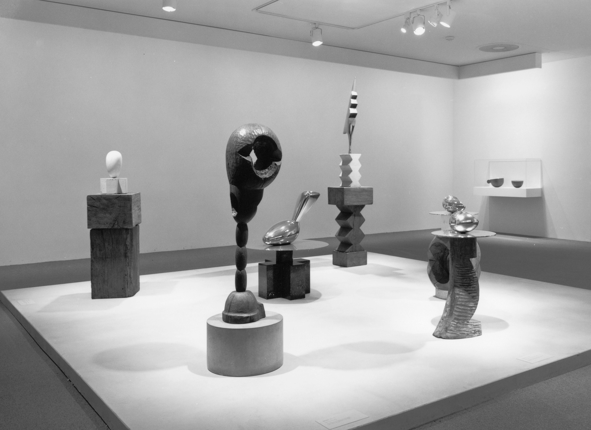 Installation view of Brancusi: Selected Masterworks from the Musée National d'Art Moderne and The Museum of Modern Art, New York at The Museum of Modern Art, New York. Photo: Katherine Keller