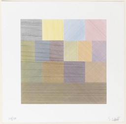 Sol LeWitt. Composite Series. 1970. One from a series of five screenprints, composition (each): 14 × 14″ (35.6 × 35.6cm); sheet (each): 20 × 20″ (50.8 × 50.8cm). Publisher: Sarah Lawrence Art Press, New York. Printer: John Campione, New York. Edition: 150. Alva Gimbel Fund. © 2016 Sol LeWitt / Artists Rights Society (ARS), New York