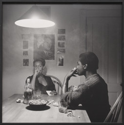 Carrie Mae Weems. *Untitled (Man smoking).* 1990. Gelatin silver print, 27 3/16 × 27 1/16″ (69 × 68.8 cm). The Family of Man Fund. © 2016 Carrie Mae Weems