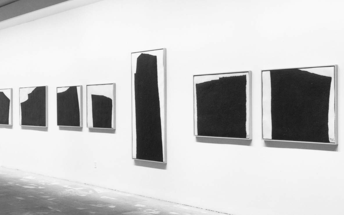 Installation view of *Richard Serra: Afangar Icelandic Series* at The Museum of Modern Art, New York. Photo: Mali Olatunji