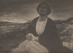 Gertrude Käsebier. The Heritage of Motherhood. 1904. Gum platinum print, 9 1/4 × 12 3/8″ (23.5 × 31.4 cm). Gift of Mrs. Hermine M. Turner