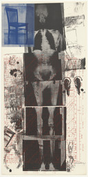 Robert Rauschenberg. *Booster* from *Booster and 7 Studies.* 1967. Lithograph and screenprint, composition: 71 1/2 × 35 1/8″ (181.7 × 89.3 cm); sheet: 72 3/16 × 35 9/16″ (183.4 × 90.4 cm). Publisher: Gemini G.E.L., Los Angeles. Printer: Gemini G.E.L., Los Angeles. Edition: 38. John B. Turner Fund