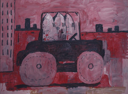 Philip Guston. *City Limits.* 1969. Oil on canvas, 6′ 5″ × 8′ 7 1/4″ (195.6 × 262.2 cm). Gift of Musa Guston. © 2016 The Estate of Philip Guston