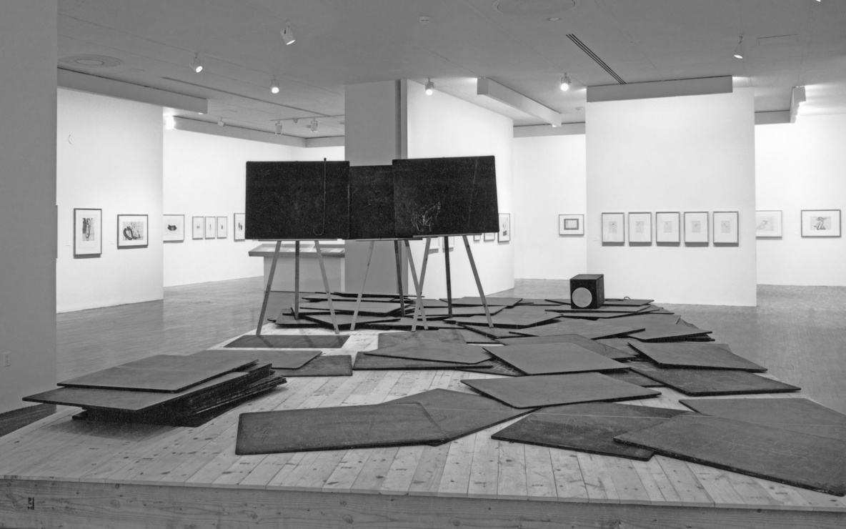 Installation view of *Thinking Is Form: The Drawings of Joseph Beuys* at The Museum of Modern Art, New York. Photo: Mali Olatunji