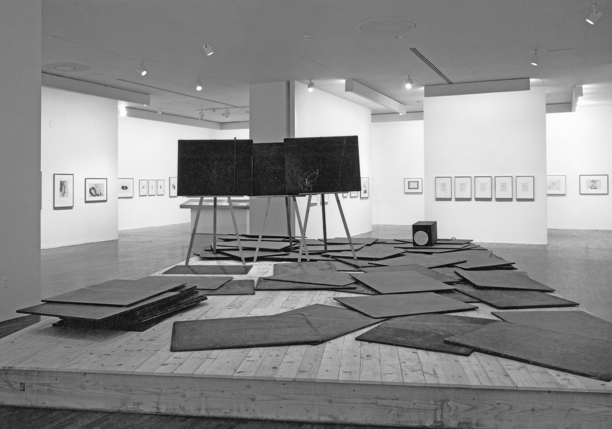Installation view of Thinking Is Form: The Drawings of Joseph Beuys at The Museum of Modern Art, New York. Photo: Mali Olatunji