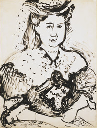 Henri Matisse. *Portrait of Mme Manguin.* 1905–06. Ink and gouache on paper, 24 1/2 × 18 1/2″ (62.2 × 47 cm). Purchase. © 2016 Succession H. Matisse / Artists Rights Society (ARS), New York