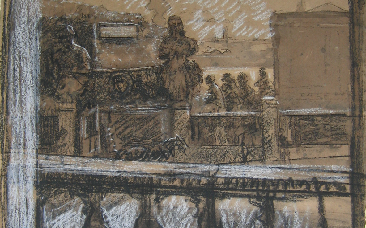 Walter Richard Sickert. *Pimlico.* 1909. Charcoal, watercolor, and chalk on paper, 21 1/2 × 19 1/2ʺ (54.6 × 49.6 cm). The Joan and Lester Avnet Collection. © 2016 Estate of Walter Richard Sickert / Artists Rights Society (ARS), New York / DACS, London