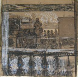 Walter Richard Sickert. Pimlico. 1909. Charcoal, watercolor, and chalk on paper, 21 1/2 × 19 1/2ʺ (54.6 × 49.6 cm). The Joan and Lester Avnet Collection. © 2016 Estate of Walter Richard Sickert / Artists Rights Society (ARS), New York / DACS, London